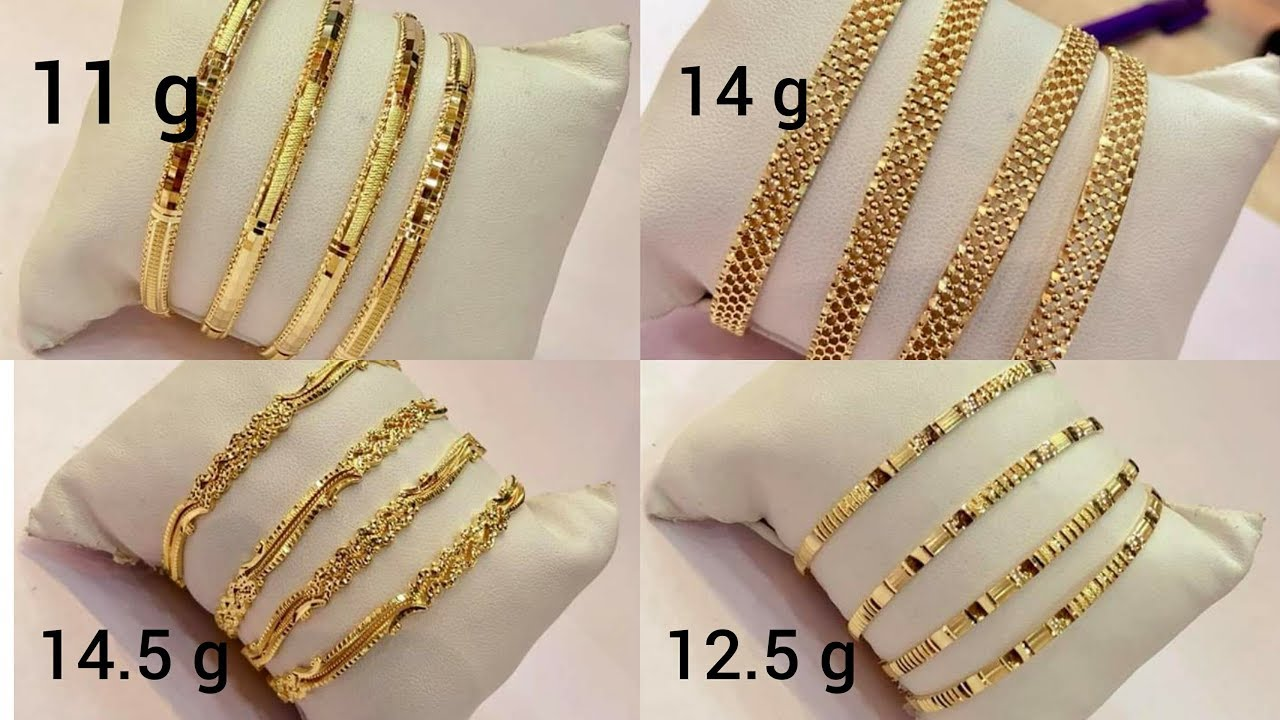 b4e5cee1ca329 Latest light weight gold BANGLES designs with WEIGHT