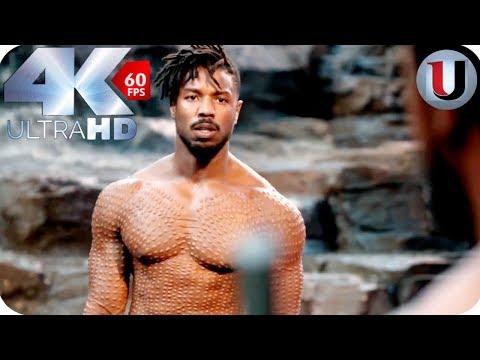Black Panther - Killmonger Vs T'Challa - MOVIE CLIP (4K HD)