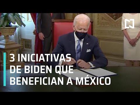 Joe Biden contempla tres iniciativas principales que beneficiarían a México y migrantes - A Las Tres