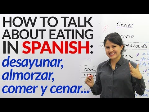 Learn how to talk about eating in Spanish