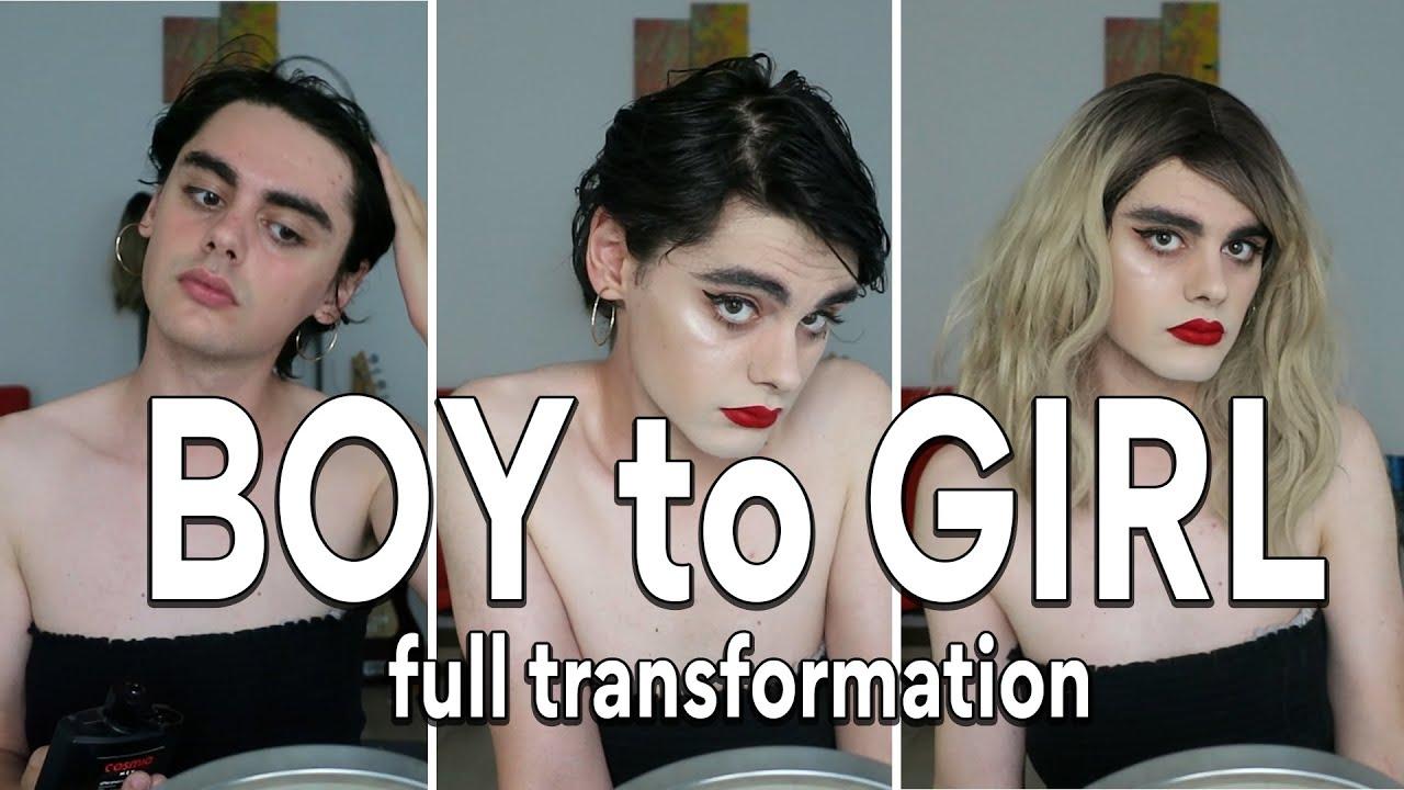 Boy to Girl Full Body Transformation | Crossdresser Makeup Tutorial