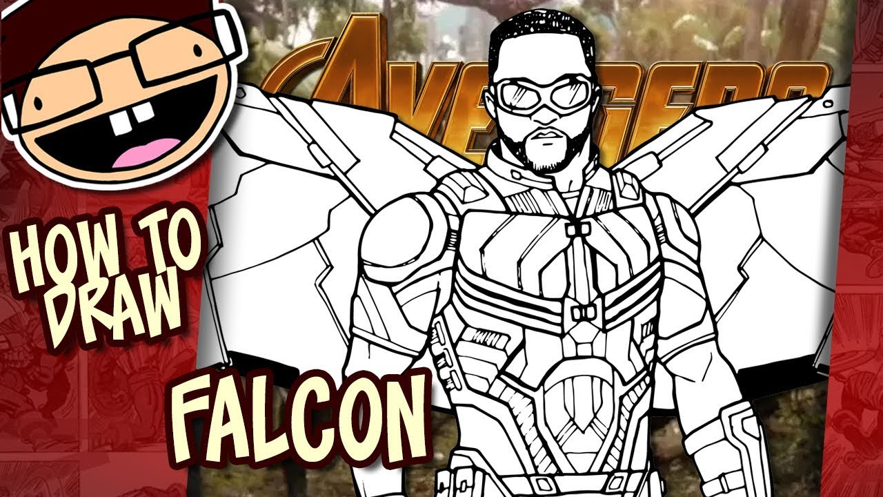 How To Draw Falcon Avengers Infinity War Narrated