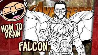How to Draw FALCON (Avengers: Infinity War) | Narrated Easy Step-by-Step Tutorial