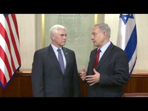 PM Netanyahu Meets Indiana Governor Mike Pence