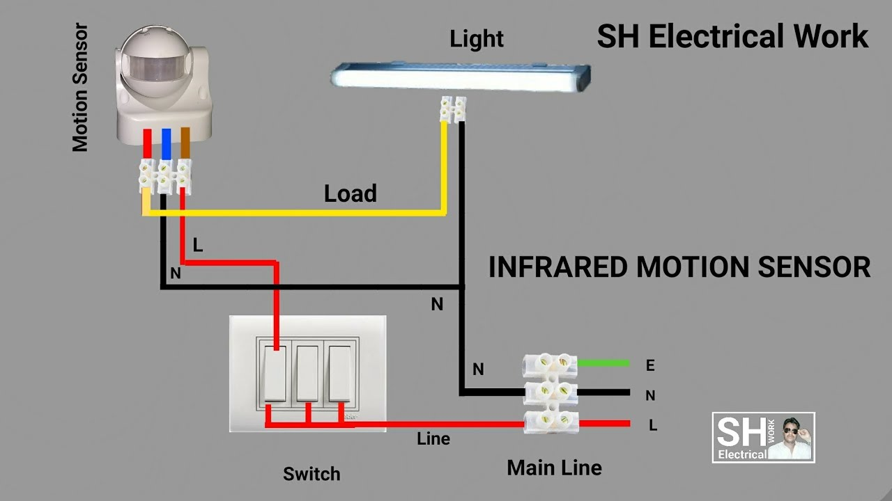 pir motion sensor switch vtac sh electrical work [ 1280 x 720 Pixel ]