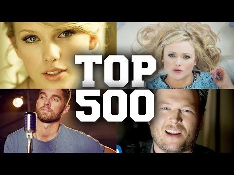 TOP 500 Most Popular Country Songs of All Time