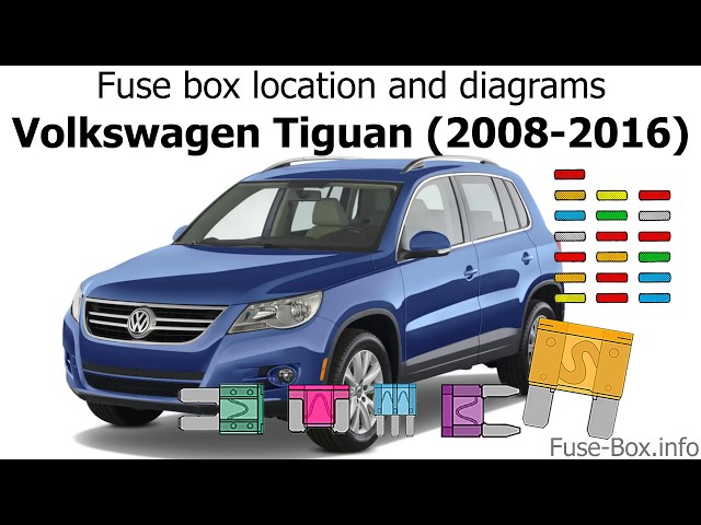 Fuse box location and diagrams Volkswagen Tiguan (2008-2016) - YouTube