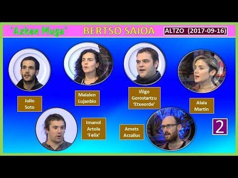 'Azken Muga' Bertso-saioa (2) (Altzo, 2017-09-16) (39'55)