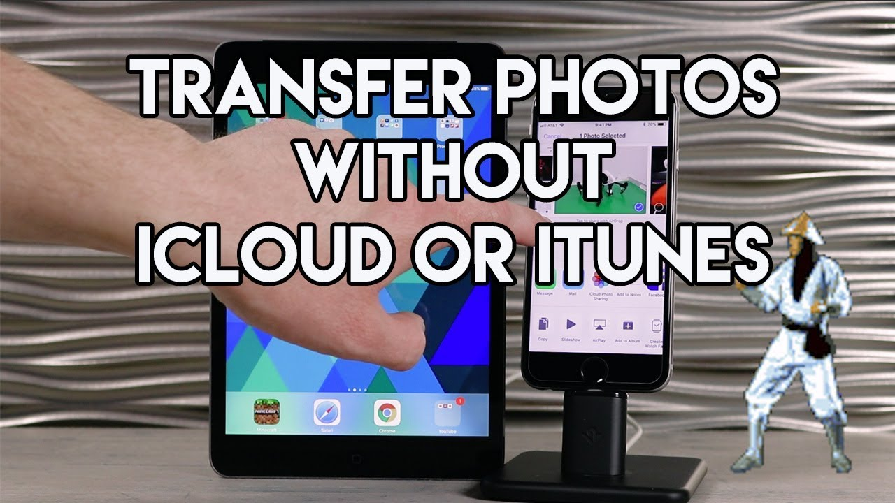 Transfer photos from iPhone to iPad without iCloud or iTunes