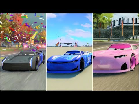 Cars 3: Driven to Win Jackson Storm, Cam Spinner, Rich Mixon Gameplay Compilation HD