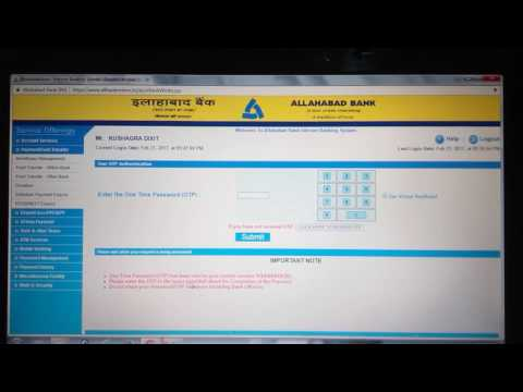 Online Allahabad Banking Beneficiary Creation