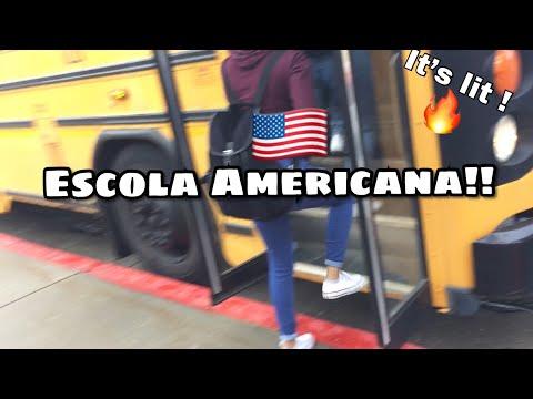 Um Dia Comigo Na Escola Americana #1