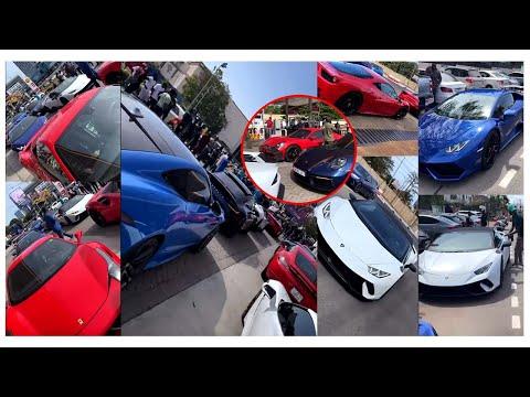 Ghanaian rich boys storm Accra with their Lamborghinis, Ferraris & Benz