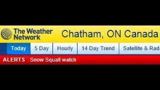 Snow Squall Watch For Chatham Kent Nov 11th 2013