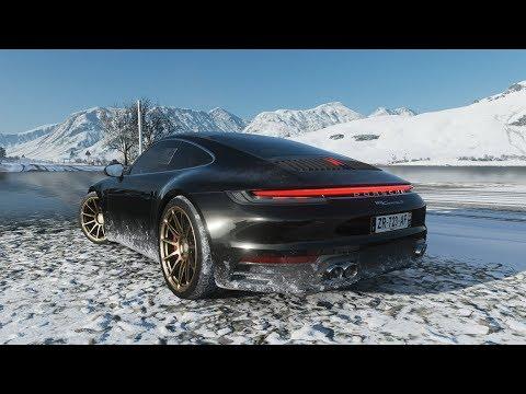 Forza Horizon 4 - 2019 PORSCHE 911 CARRERA S - Test Drive In Snow - 1080p60FPS