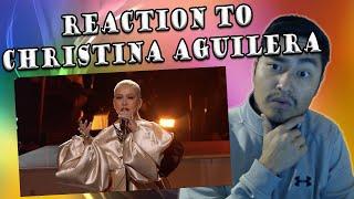 Christina Aguilera & A Great Big World - Fall On Me Live (REACTION)
