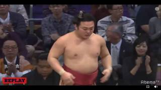 Enho 炎鵬 v Takekaze 豪風 Kyushu 2018 Day 4 (Juryo division) Up and...