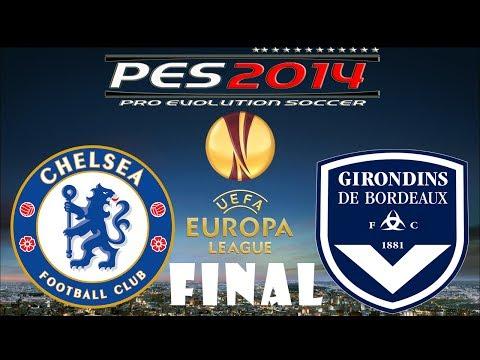 PES 2014 UEFA Europa League FINAL Chelsea FC vs FC Girondins De Bordeaux