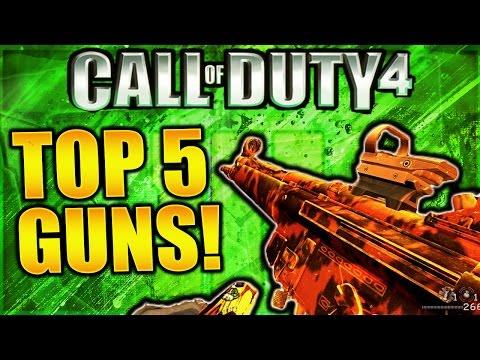 TOP 5 BEST GUNS IN MODERN WARFARE REMASTERED! COD 4 REMASTERED BEST WEAPONS! COD 4 BEST GUNS!