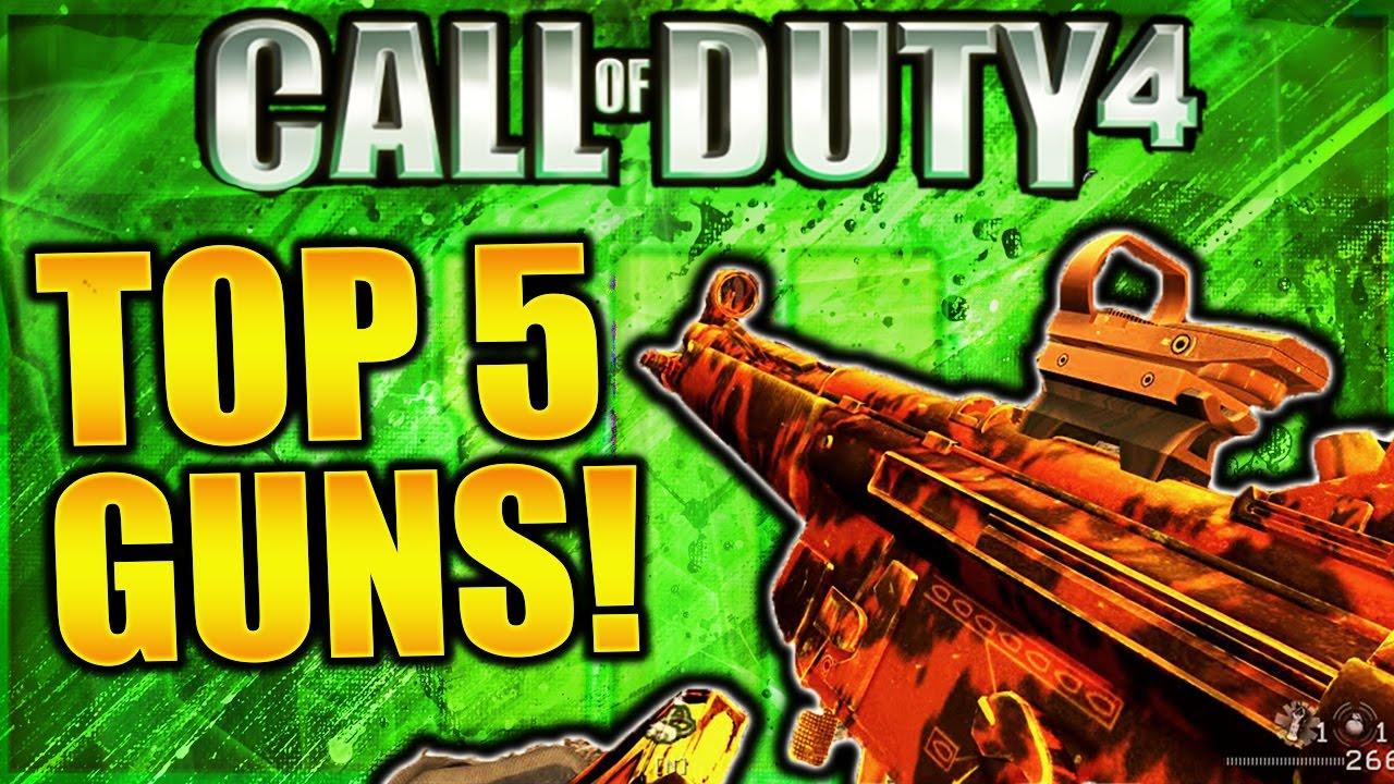 Top 5 Best Guns In Modern Warfare Remastered Cod 4