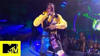 "Travis Scott Performs ""Stargazing ft. James Blake"" MTV VMAs 