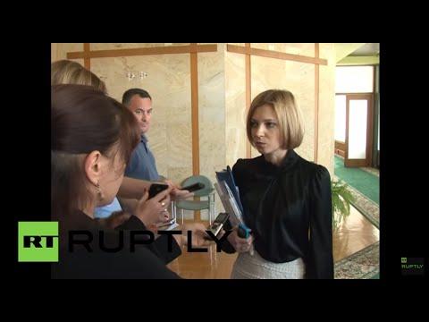Russia: Crimean prosecutor Poklonskaya condemns Kiev's treason charges