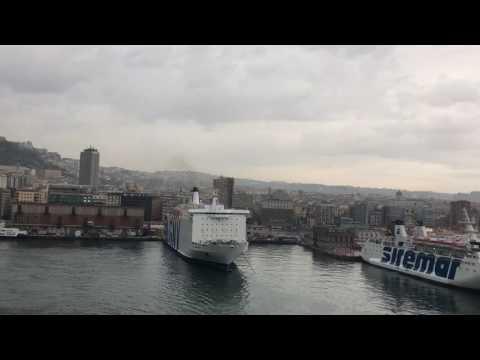 Leaving Naples Italy port