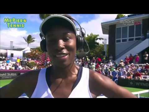 Venus Williams vs Magda Linette Fed Cup 2016 Highlights