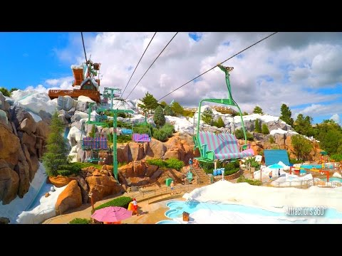 [4K] Chair Lift to the Summit - Disney's Blizzard Beach Water Park