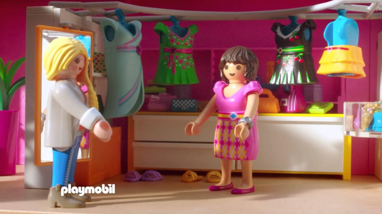 Playmobil la maison moderne fran ais youtube for Agrandissement maison moderne playmobil