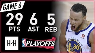Stephen Curry Full Game 6 Highlights vs Rockets 2018 NBA Playoffs WCF - 29 Pts, 6 Ast, 5 Reb!