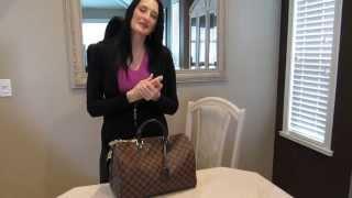 "Louis Vuitton  ""NEW"" Speedy Bandouliere 35 Damier Ebene with size comparison to the Mono 40 B"