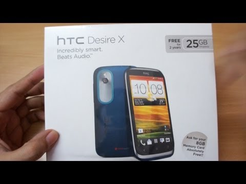 HTC Desire X Unboxing & first impressions