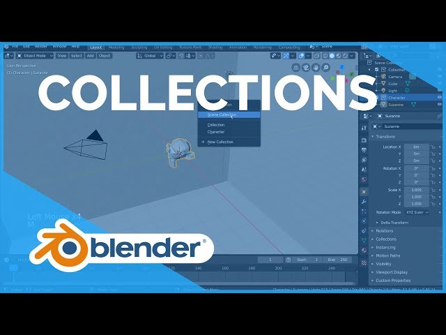Collections - Blender 2.80 Fundamentals