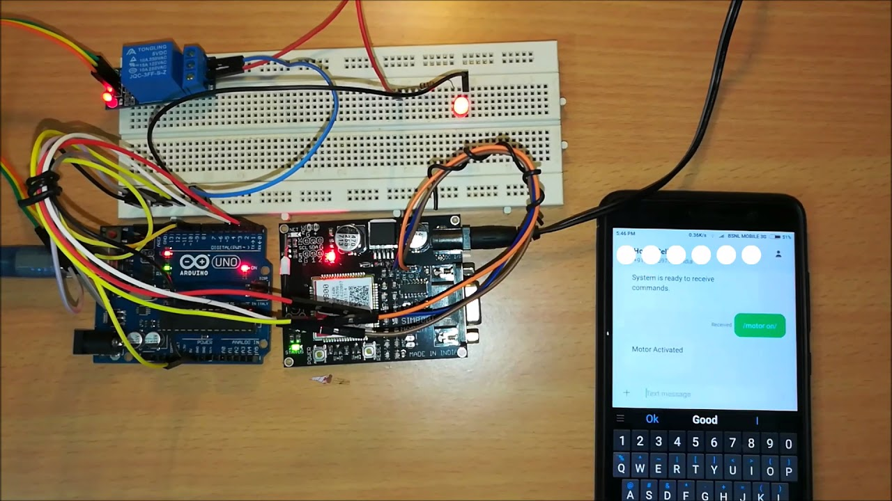 GSM Pump Motor Controller Circuit using Arduino | Homemade Circuit
