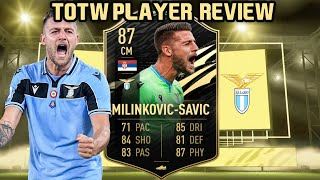 WHAT A TANK! 87 TOTW MILINKOVIC-SAVIC PLAYER REVIEW! FIFA 21 ULTIMATE TEAM