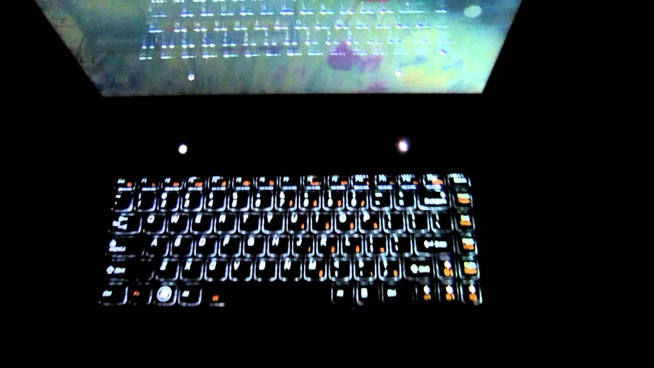Lenovo Y480 Backlit Keyboard Demo