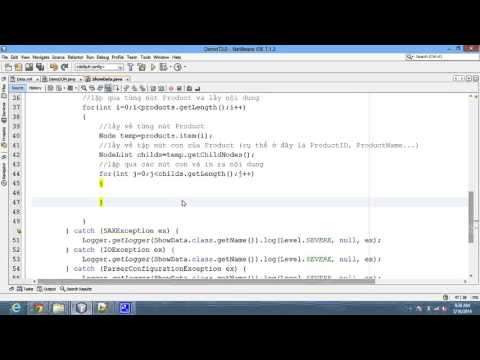 Java code - View data from XML file using DOM example