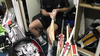 Chris Nash goes through is Gray-Nicolls kit bag