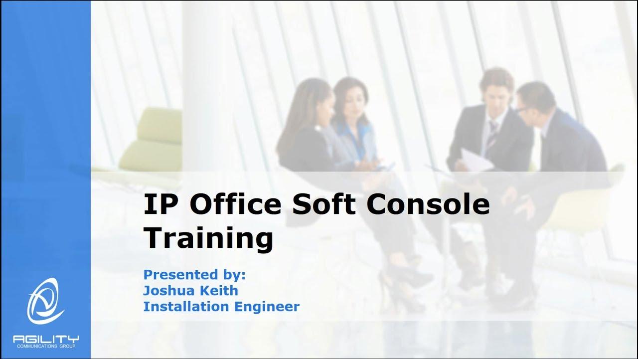 agilitycg tech tips avaya ip office softconsole training youtube rh youtube com IP Office Knowledge Base Avaya IP Office 1408 Telephone