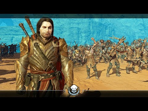 SHADOW OF WAR - UNIQUE COMMANDER OVERLORD LEGENDARY NEMESIS DIFFICULTY IN DESERT