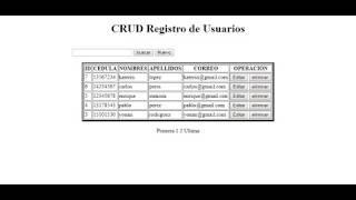 Sistema CRUD en php y html