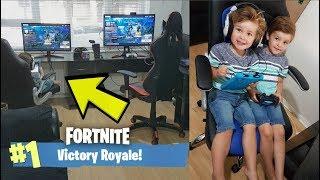 *4 YEAR OLD KID* Plays 1V1 Fortnite Custom Game Against TRUMAnn!
