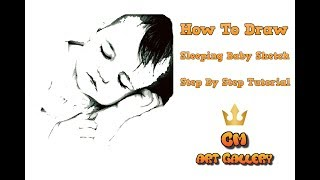 How to draw baby sketch - Step by step tutorial