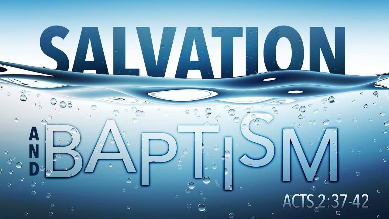 is baptism necessary for salvation Is baptism necessary for salvation  we hope that these children who die without the benefit of sacramental baptism will have eternal salvation– that is the.