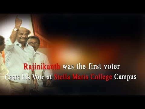 Rajinikanth was the first voter - Casts his Vote at Stella Maris College Campus - RedPix24x7  on screen he can do anything, and at one polling station in Tamil Nadu on Thursday, superstar Rajinikanth cast the first vote.  The 63-year-old idol voted at the Central Chennai constituency, a high-profile seat where Chief Minister Jayalalithaa is also a voter. DMK's Dayanidhi Maran is among the candidates in this seat. (India Votes 2014: Full Coverage)  The few voters who had gathered at the Stella Maris College polling station at 7 a.m. were pleasantly surprised to see Rajinikanth walking in and quietly stepped out of his way.   Music Details: Music: The Engagement Artist:Silent Partner Album:YouTube Audio Library   http://www.ndtv.com BBC Tamil: http://www.bbc.co.uk/tamil INDIAGLITZ :http://www.indiaglitz.com/channels/tamil/default.asp  ONE INDIA: http://tamil.oneindia.in BEHINDWOODS :http://behindwoods.com VIKATAN http://www.vikatan.com the HINDU: http://tamil.thehindu.com DINAMALAR: www.dinamalar.com MAALAIMALAR http://www.maalaimalar.com/StoryListing/StoryListing.aspx?NavId=18&NavsId=1 TIMESOFINDIA http://timesofindia.indiatimes.com http://www.timesnow.tv HEADLINES TODAY: http://headlinestoday.intoday.in PUTHIYATHALAIMURAI http://www.puthiyathalaimurai.tv VIJAY TV:http://www.youtube.com/user/STARVIJAY  -~-~~-~~~-~~-~- Please watch: