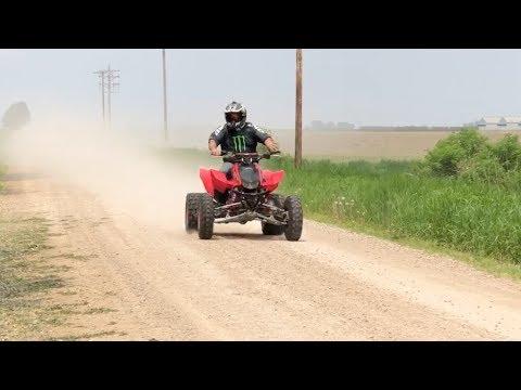 Old man rides built Honda TRX 450r!