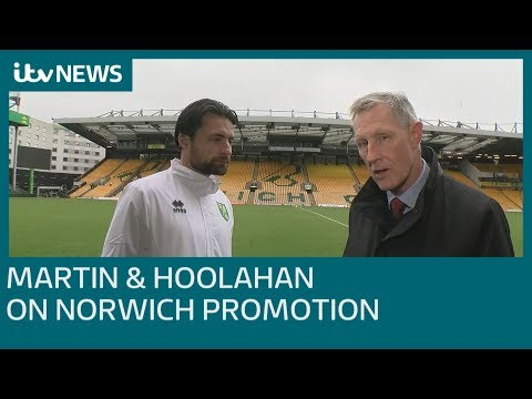 Russell Martin & Wes Hoolahan on Norwich City promotion | ITV News