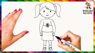 Imagen de una niña animada