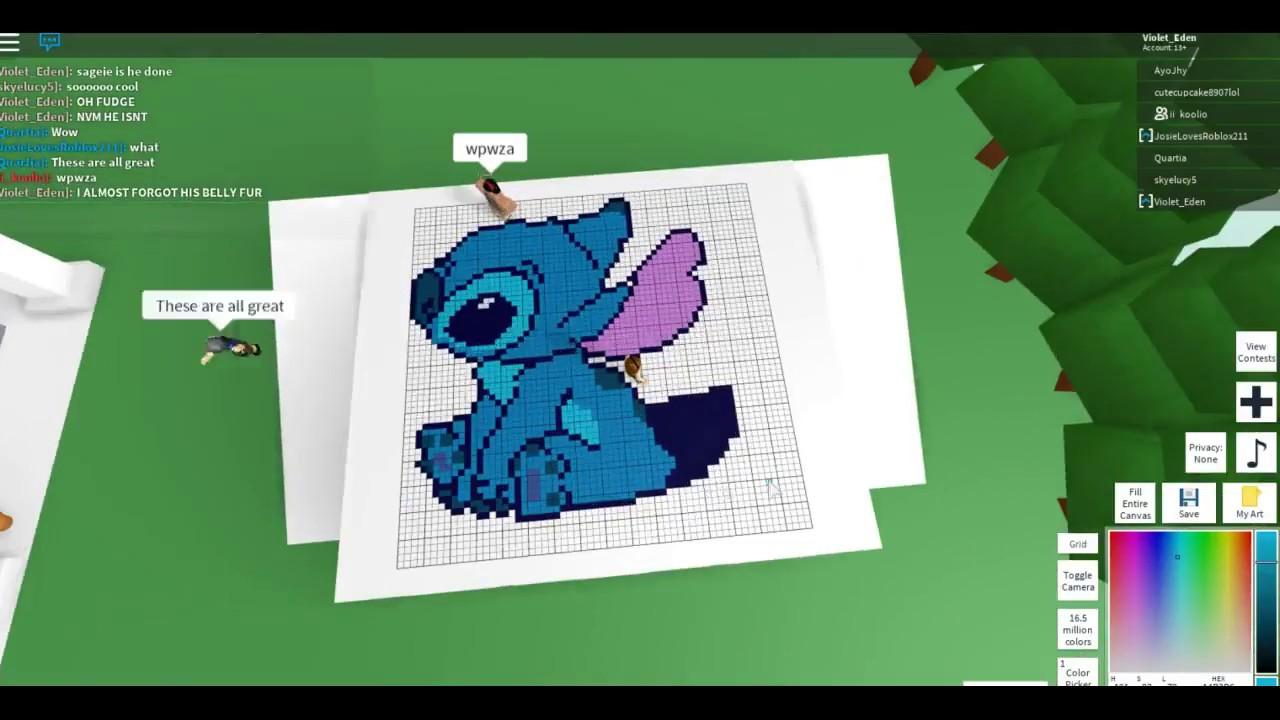 Roblox Pixel art [] Yum it is a donut by CmanFilms